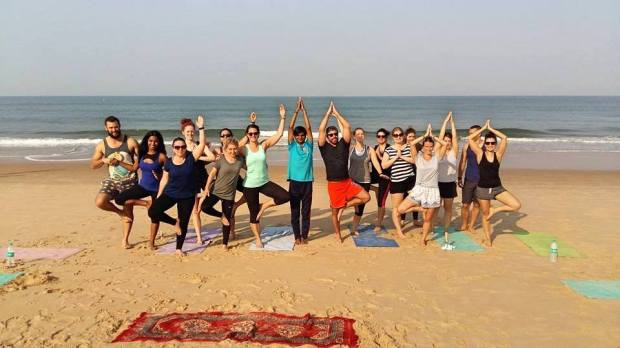 Yoga beach Goa India