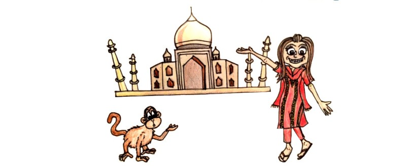 Travel illustration india