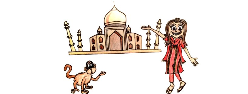 Travel illustration india