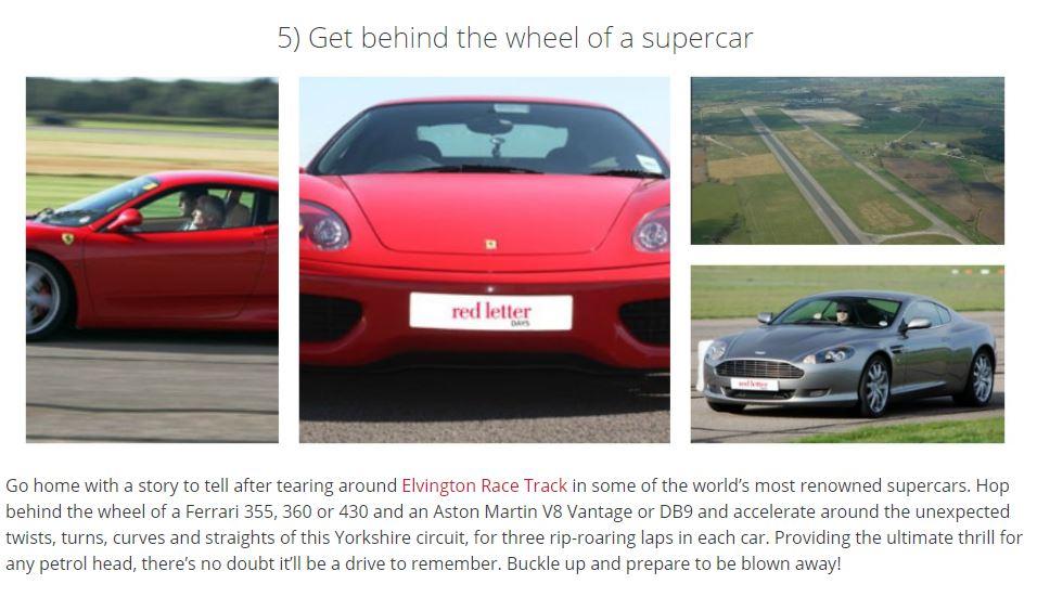 Supercar driving