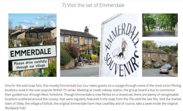 Emmerdale tour