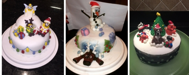 Christmas cake decoration